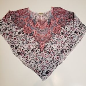 live and let live Paisley Print Poncho Top XXL